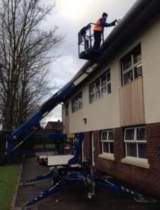 Ultra Cleaning staff performing gutter cleaning in January 2018. Introducing the firt blog of this year